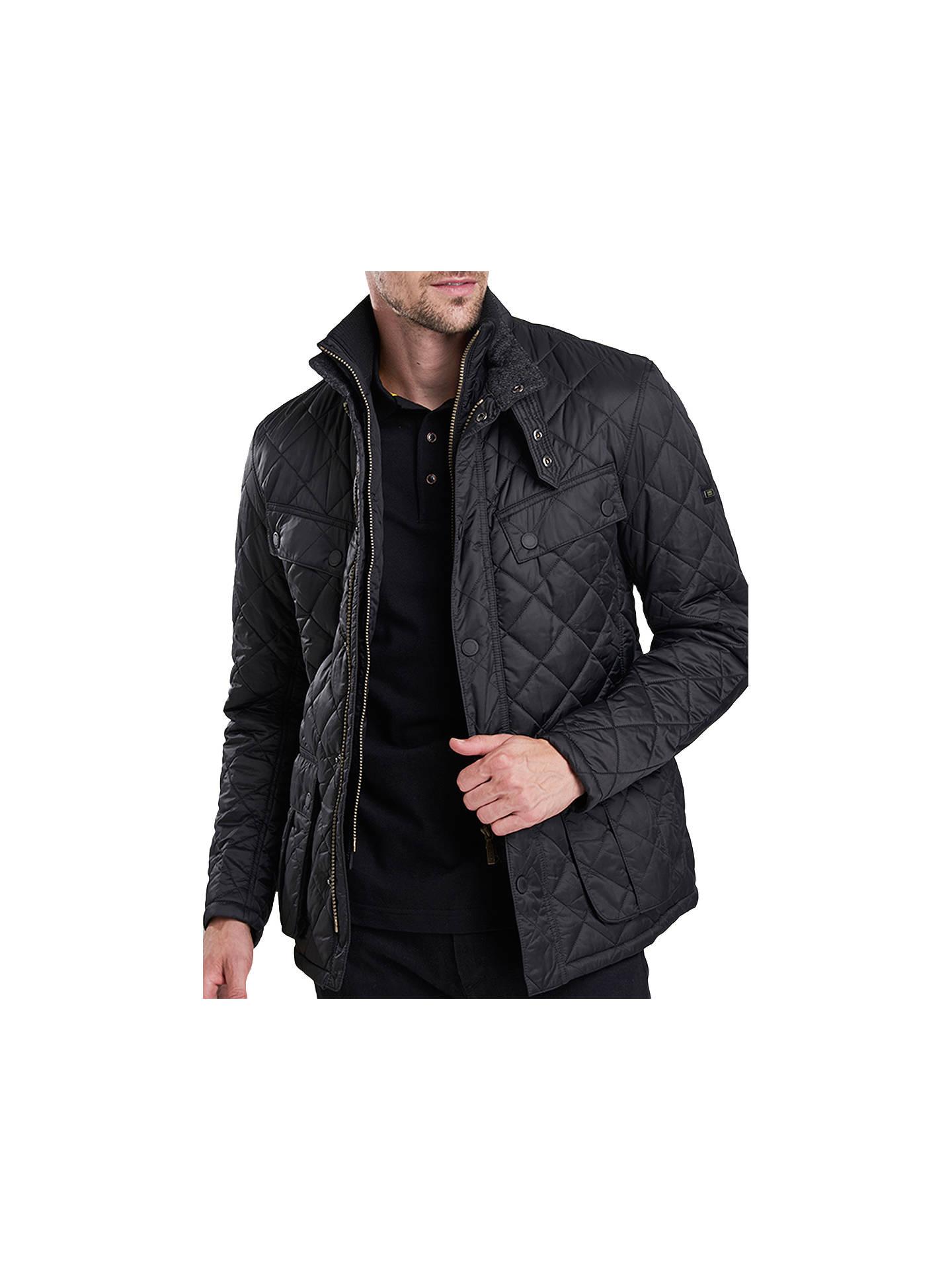 Barbour International Quilted Windshield Jacket Black At