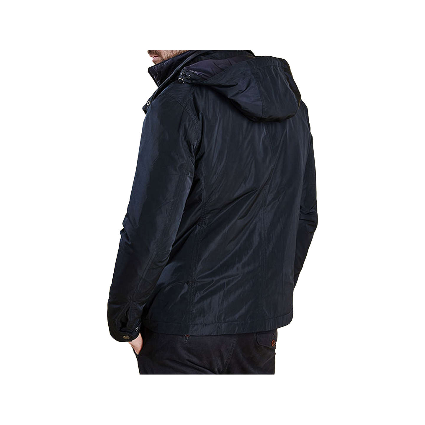 BuyBarbour Tulloch Waterproof Jacket, Navy, S Online at johnlewis.com