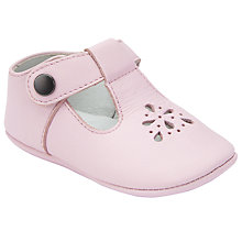 Buy John Lewis Baby T Bar Booties, Pink Online at johnlewis.com