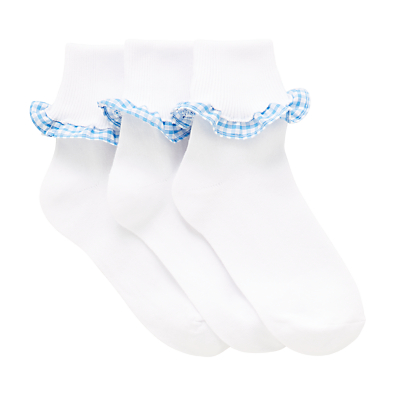 Product photo of John lewis children s gingham trim socks pack of 3