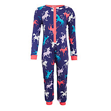 Buy John Lewis Children's Unicorn Jersey Onesie, Blue Online at johnlewis.com