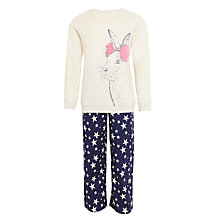 Buy John Lewis Children's Bunny Character Pyjamas, Cream/Navy Online at johnlewis.com