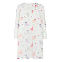 Buy John Lewis Girls' Cat Night Dress, White Online at johnlewis.com
