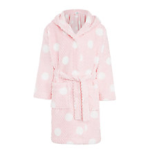 Buy John Lewis Children's Spot Robe, Pink Online at johnlewis.com