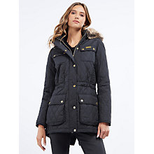Buy Barbour International Enduro Quilted Jacket, Black Online at johnlewis.com