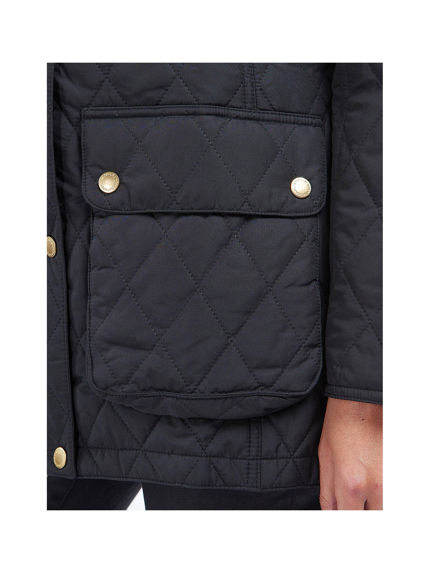 2f9f792b3 ... Buy Barbour International Enduro Quilted Hooded Jacket, Black, 8 Online  at johnlewis.com