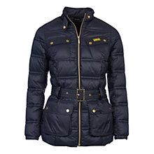 Buy Barbour International Pannier Baffle Quilted Jacket, Black Online at johnlewis.com