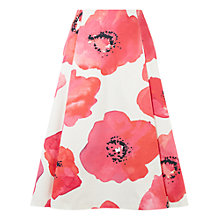 Buy Damsel in a dress Wild Poppy Skirt, White/Pink Online at johnlewis.com