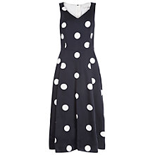 Buy Damsel in a dress Sabrina Dress, Black/Ivory Online at johnlewis.com