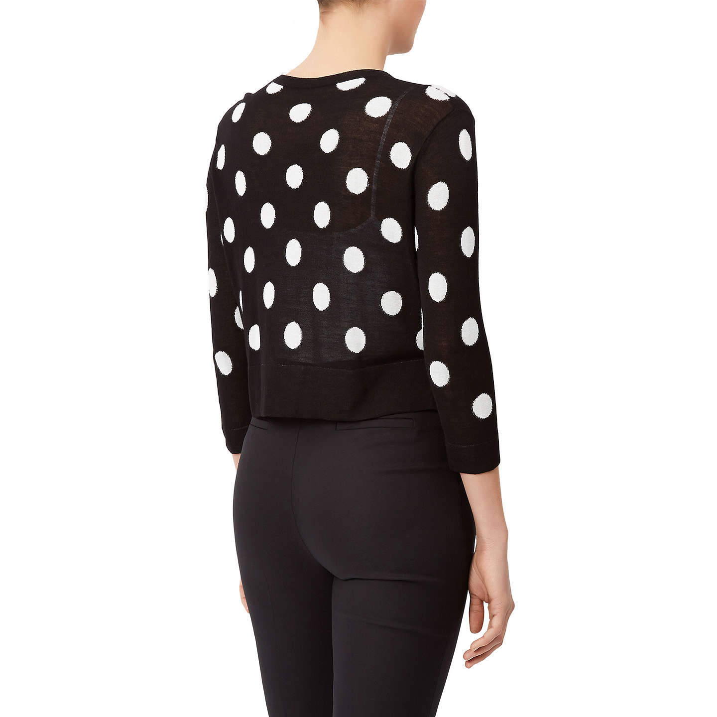 BuyDamsel in a dress Spotty Cardigan, Black, S Online at johnlewis.com