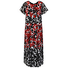 Buy Celuu Ivy Chiffon Maxi Dress, Red/Black Online at johnlewis.com