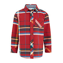 Buy John Lewis Boys' Large Check Shirt, Red/Multi Online at johnlewis.com
