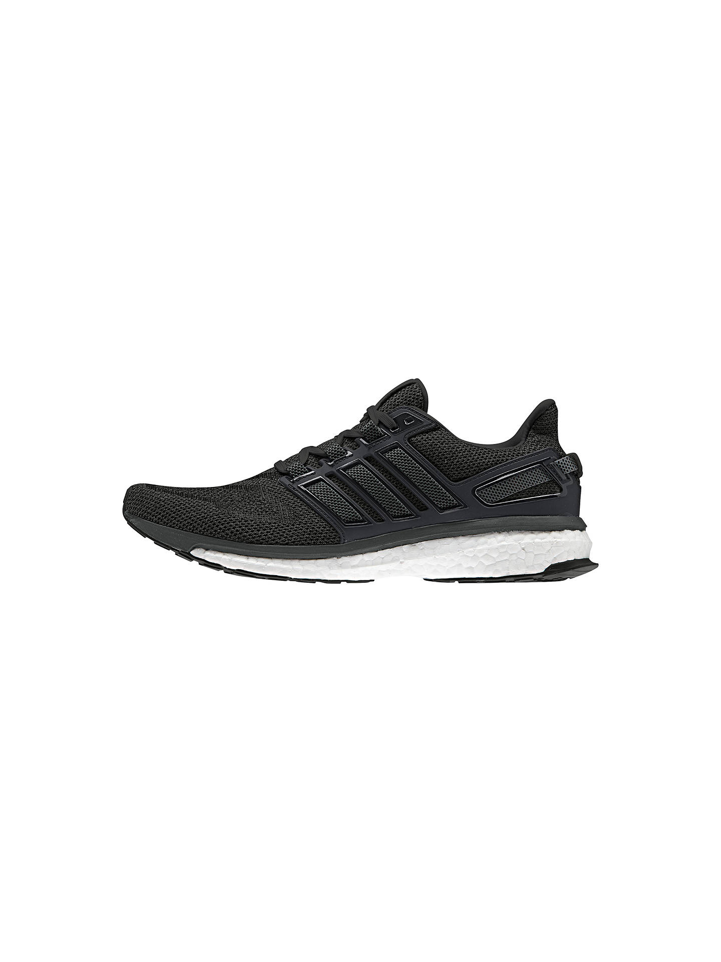 low priced b4e3d ac2f3 BuyAdidas Energy Boost 3 Mens Running Shoes, BlackGrey, 7 Online at  johnlewis ...