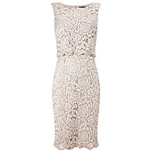 Buy Phase Eight Julie Double Layer Dress, Antique Online at johnlewis.com