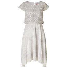 Buy Phase Eight Fern Print Lace Dress, Silver Online at johnlewis.com