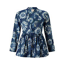 Buy East Sunflower Anokhi Jacket, Indigo Online at johnlewis.com