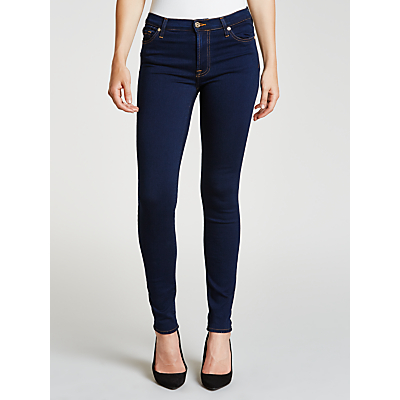 7 For All Mankind High Waist Skinny Slim Illusion Jeans, Luxe Rinsed Indigo