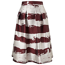 Buy Phase Eight Brush Stroke Skirt, Aubergine/Oyster Online at johnlewis.com