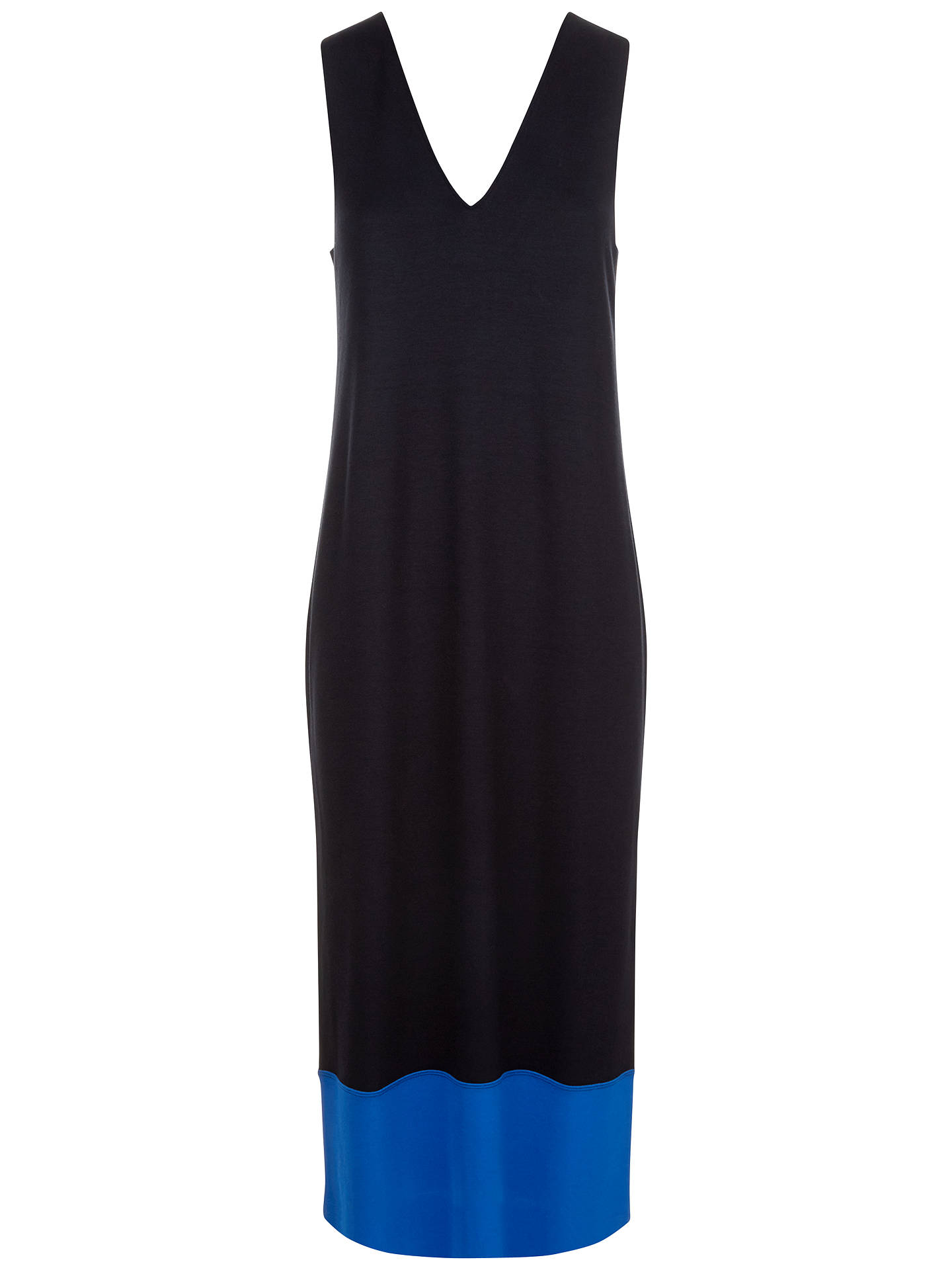 Buy Jaeger Colour Block Dress, Navy, XS Online at johnlewis.com