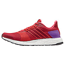 Buy Adidas Ultra Boost ST Women's Running Shoes, Red/Pink Online at johnlewis.com