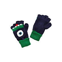 Buy John Lewis Children's Monster Flip Gloves, Navy Online at johnlewis.com