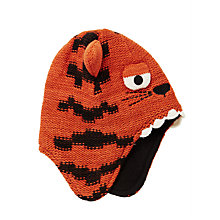 Buy John Lewis Children's Tiger Trapper Hat, Orange Online at johnlewis.com