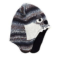 Buy John Lewis Children's Wolf Trapper Hat, Grey/Multi Online at johnlewis.com