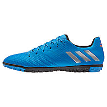 Buy Adidas Messi 16.3 TF Men's Football Boots, Blue/Silver Online at johnlewis.com