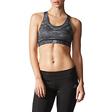 Buy adidas Techfit Heather Print Sports Bra, Black Online at johnlewis.com