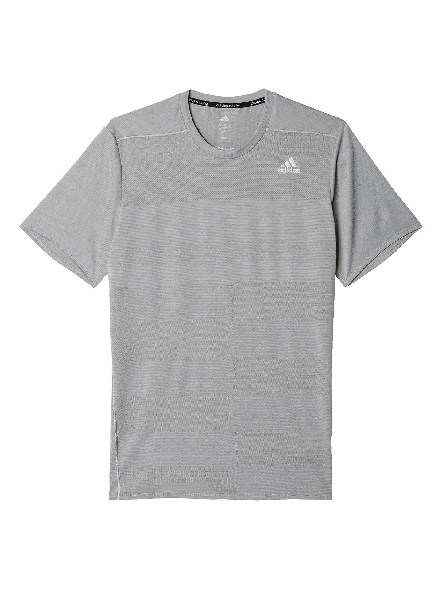 61a459cc Buy Adidas Supernova Short Sleeve Running Top, Grey, S Online at  johnlewis.com ...