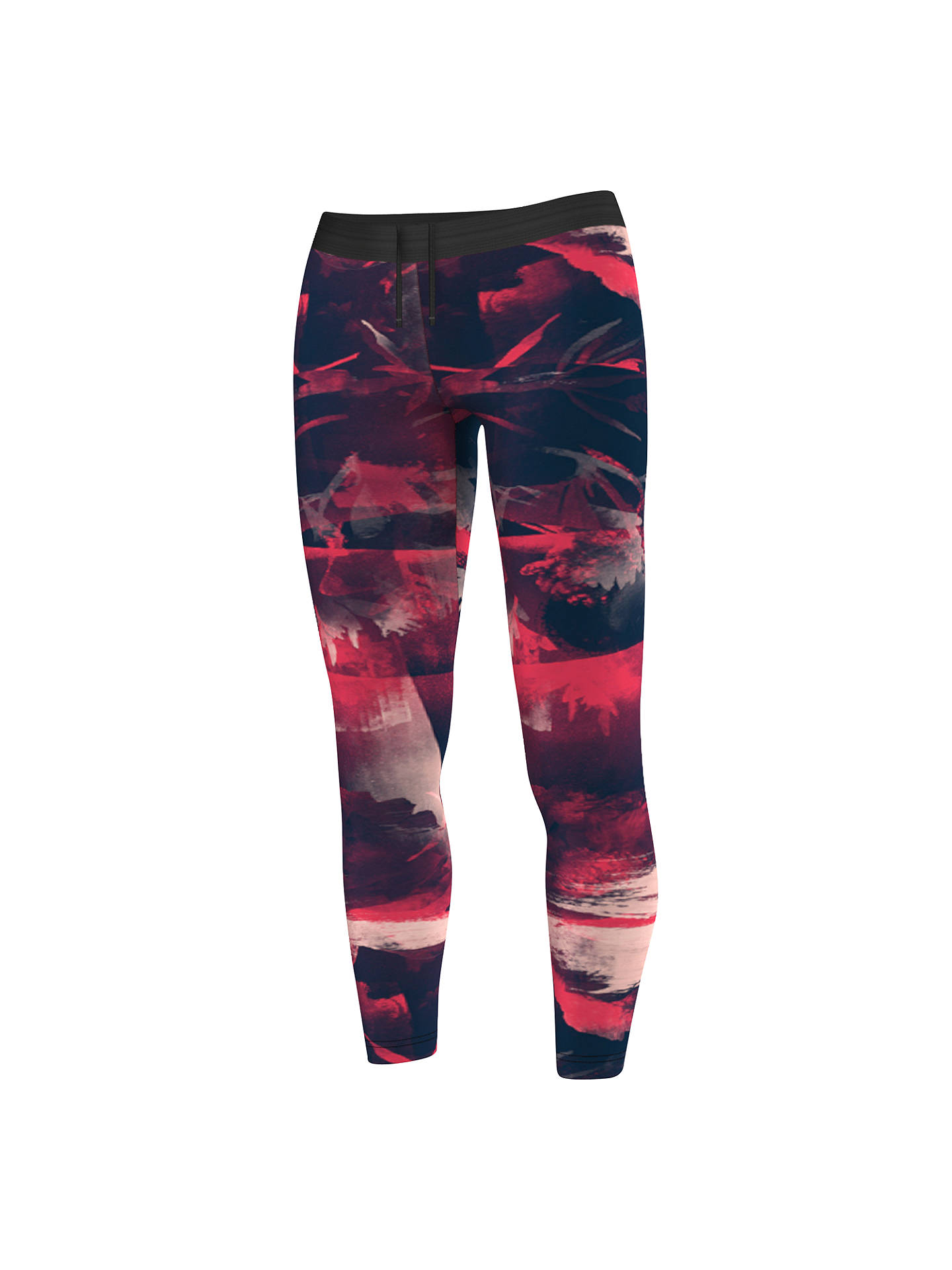 fe8bfafdd63 Buy Adidas Training Flower Print Tights, Red, XS Online at johnlewis.com ...