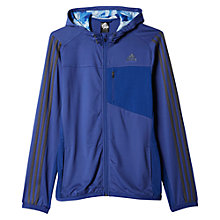 Buy Adidas Cool365 Training Hoodie, Navy Online at johnlewis.com