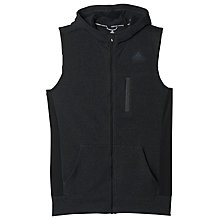 Buy Adidas Ultra Energy Fleece Running Vest, Black/Grey Online at johnlewis.com