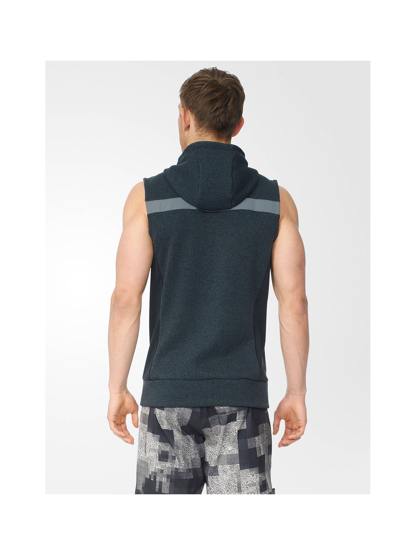 Adidas Ultra Energy Fleece Running Vest, BlackGrey at John