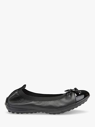 Geox Children's Piuma Ballet Pump School Shoes, Black