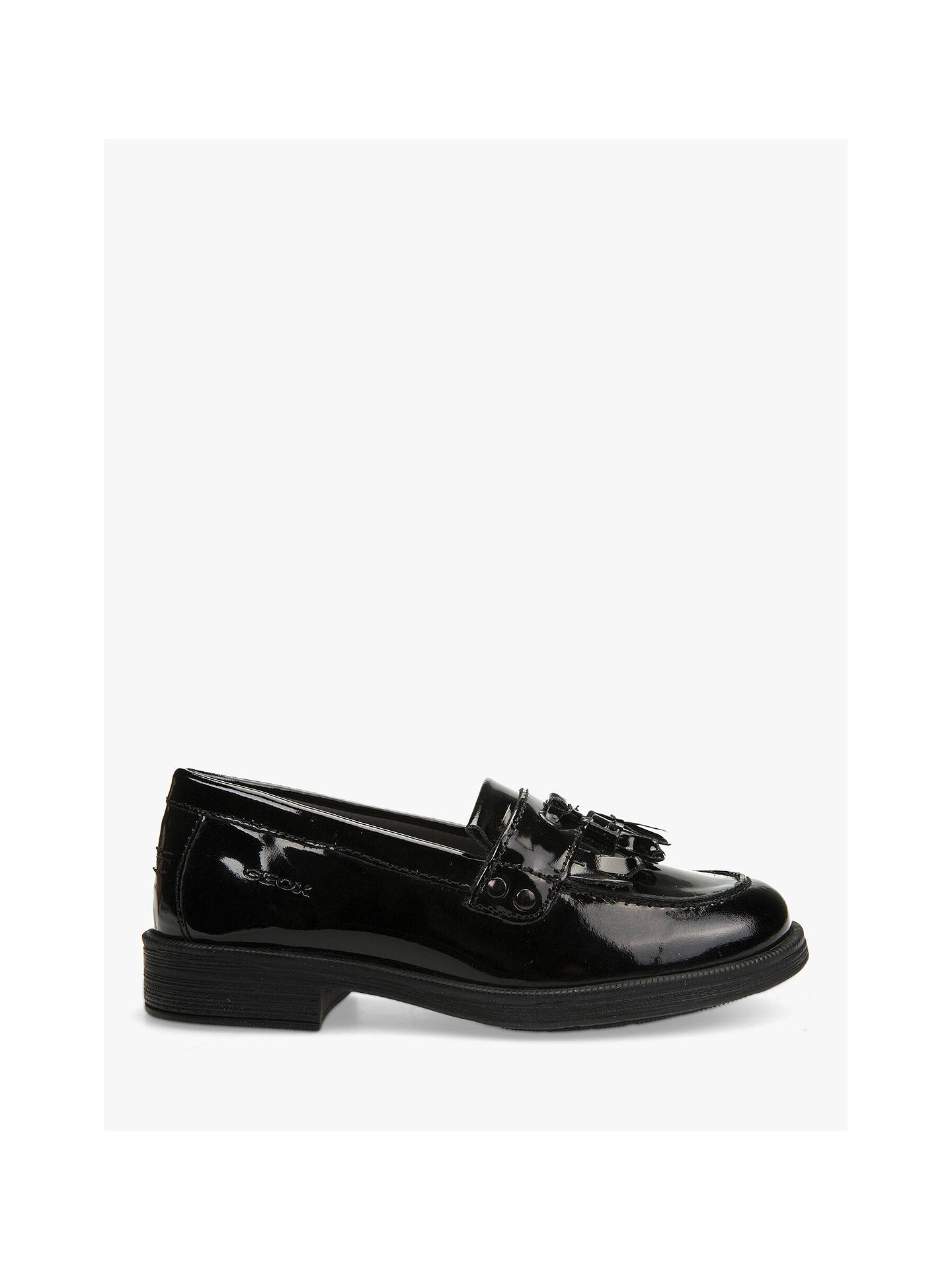 aecd6ff1ee1 Buy Geox Children's Agata Slip On Leather Loafers, Patent Black, 30 Online  at johnlewis ...