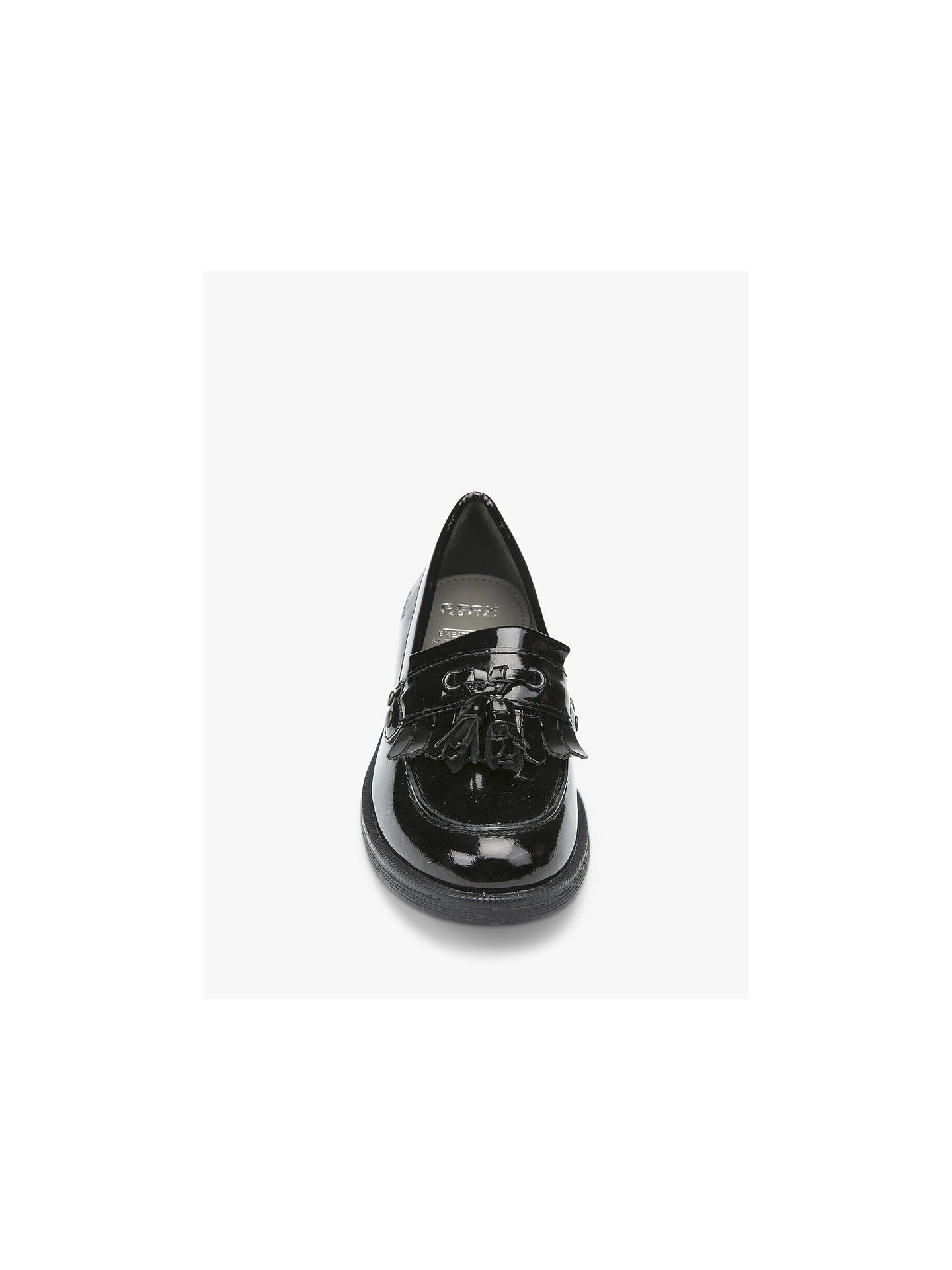 ddda7ea7080 ... Buy Geox Children's Agata Slip On Leather Loafers, Patent Black, 30  Online at johnlewis ...