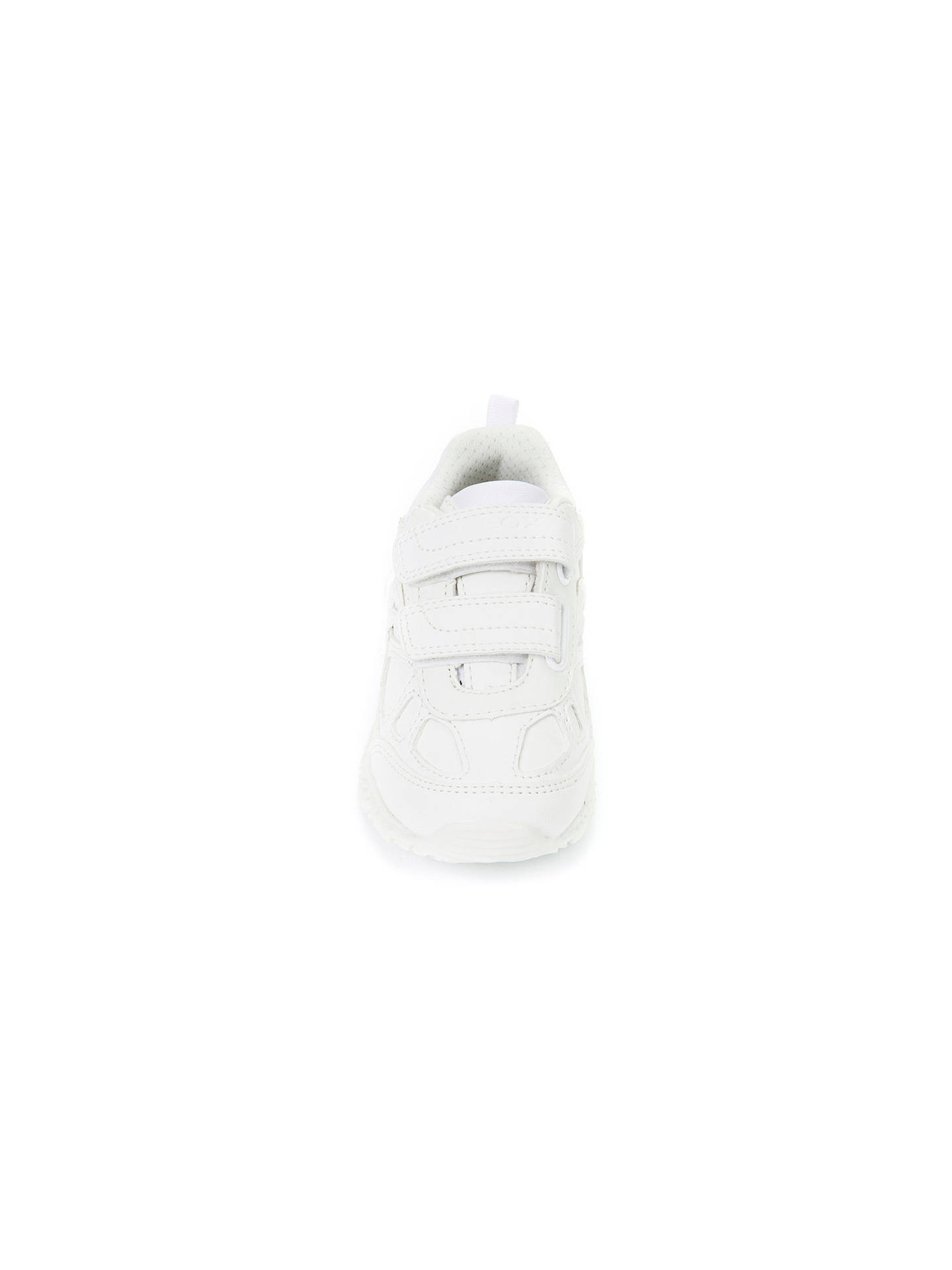 Buy Geox Children's Bernie Riptape Trainers, White, 27 Online at johnlewis.com
