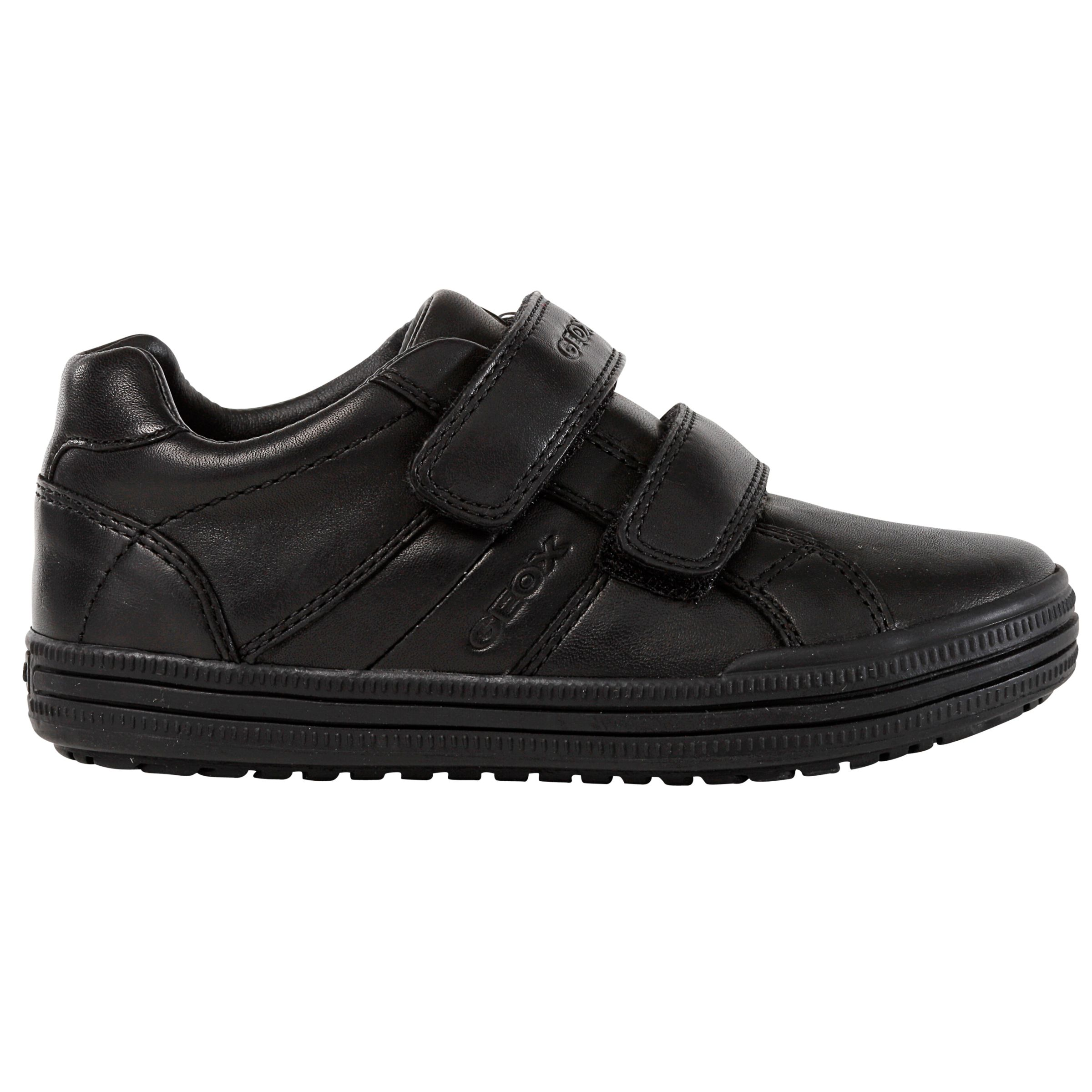 more photos ea2f8 45e24 Geox Children's Elvis Leather Trainers, Black at John Lewis ...