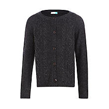 Buy John Lewis Girls' Cable Knit Cardigan, Grey Online at johnlewis.com