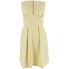 Buy Closet V Neck Full Jacquard Dress, Yellow Online at johnlewis.com