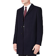 Buy Kin by John Lewis Melton Slim Epsom Coat, Indigo Online at johnlewis.com