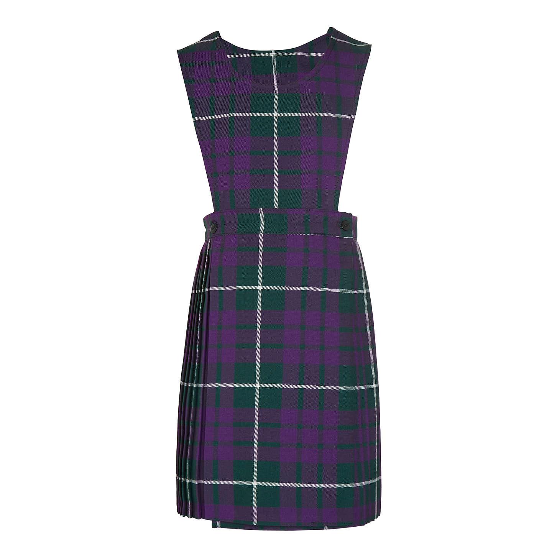 Pointer School Girls\' Tartan Tunic Dress, Purple/Multi at John Lewis