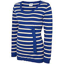 Buy Mamalicious Annica Knitted Maternity Jumper, Navy/White Online at johnlewis.com