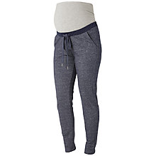 Buy Mamalicious Gemto Jersey Maternity Trousers, Navy Online at johnlewis.com