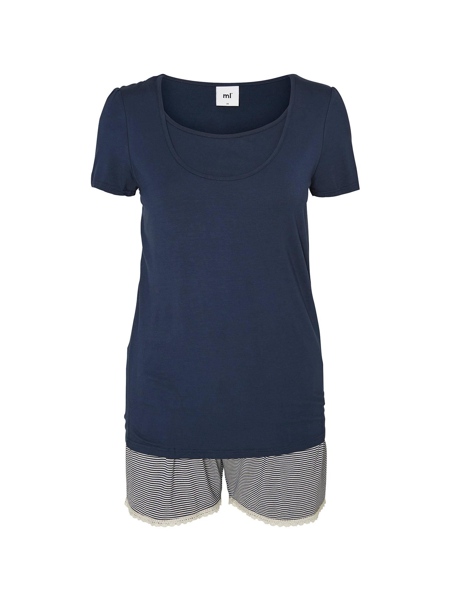 b1ff293289da5 Buy Mamalicious Thilde Maternity and Nursing Short Pyjamas, Black Iris, S  Online at johnlewis ...