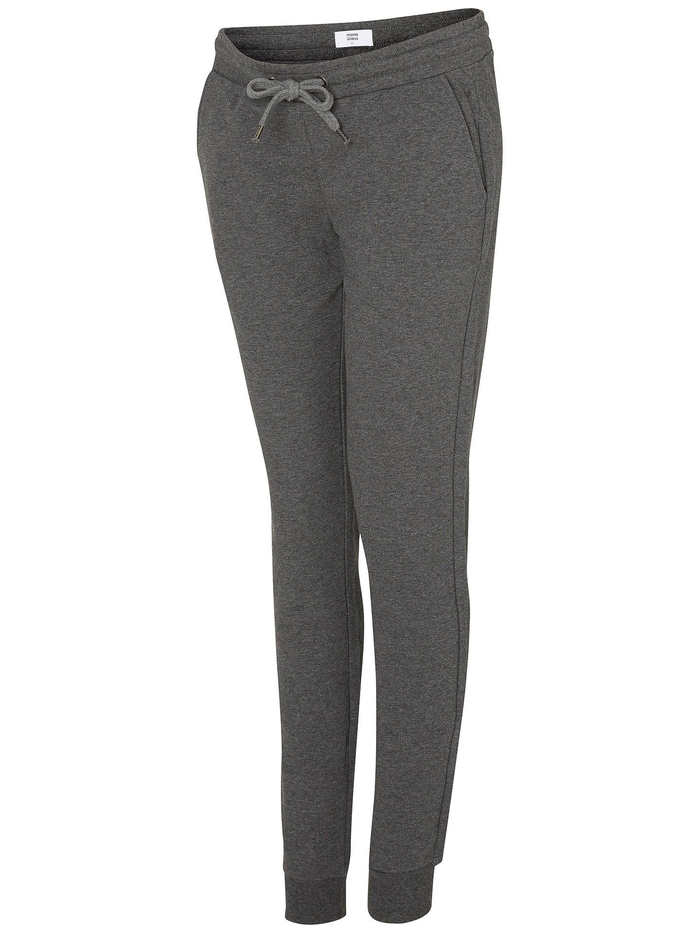 36e4b9ac6dd77 Buy Mamalicious Sammy Jersey Maternity Trousers, Grey Melange, S Online at  johnlewis.com ...