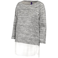 Buy Seraphine Gloria Maternity Nursing Top, Grey/White Online at johnlewis.com