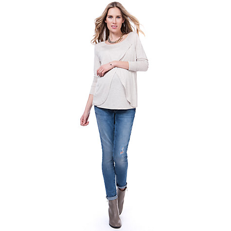 Buy Séraphine  Ilana Maternity Nursing Top, Oatmeal Online at johnlewis.com