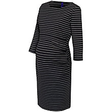 Buy Seraphine Aviana Striped Maternity Nursing Dress, Black/White Online at johnlewis.com